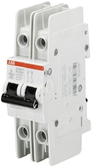 ABB SU202PR-K2 Miniature Circuit Breaker, 2 pole, 2 A, 480Y/277 VAC, K Curve, UL 489, Ring Terminal