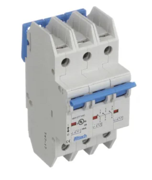Altech Corp. 3CU50L Circuit Breaker 50A, 3 Pole, 240V AC, UL489