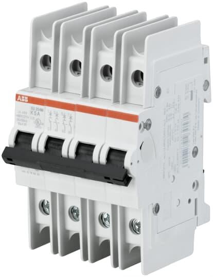 ABB SU204M-C20 UL489 MCB 4P C 20A 480/277