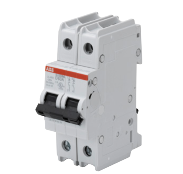 ABB SU202ML-K2 Circuit breaker, 2P, 2 A, 230 VAC, K trip curve, UL489