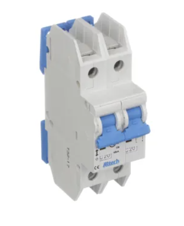 Altech Corp. 2DU8L Circuit Breaker 8A, 2 Pole, 480Y/277V AC, UL489