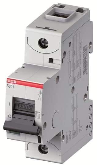 ABB S801U-Z90 Circuit Breaker, High Performance, 1 pole, 90 A, 240 VAC, Z Curve, UL 489