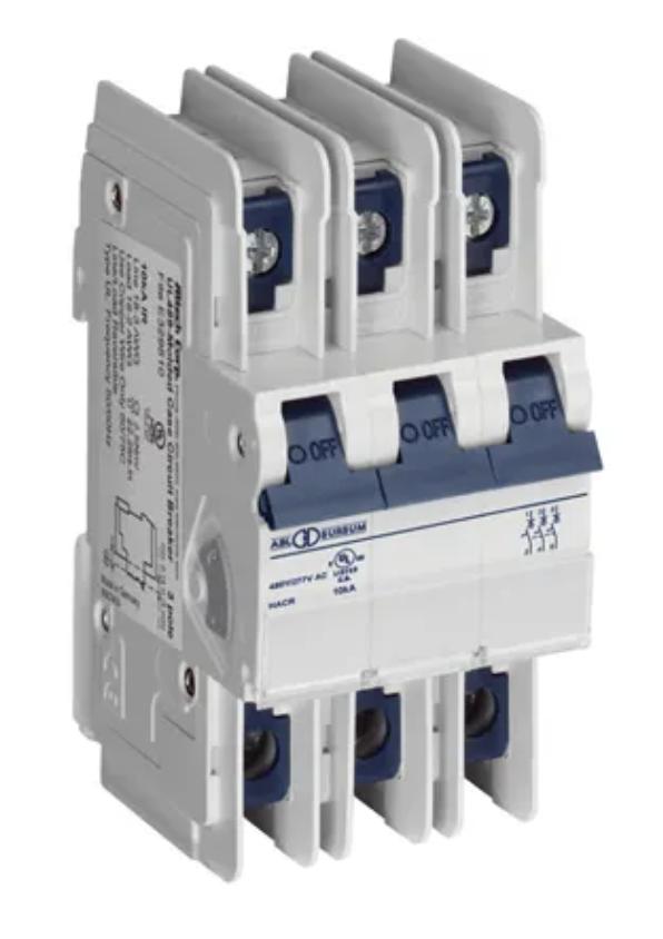 Altech Corp. 3C3UL Circuit Breaker 3A, 3 Pole, 480Y/277V AC, UL489