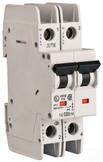 Eaton Corp FAZ-B32/2-NA Miniature circuir breaker, 2 pole, 32 A, B trip curve, 277/480 VAC, screw terminals, UL489