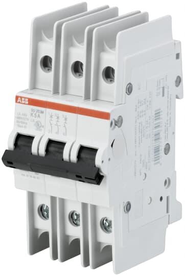 ABB SU203M-K0.2 UL489 MCB 3P K 0.2A 480/277