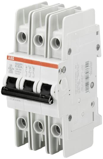 ABB SU203PR-K0.5 Miniature Circuit Breaker, 3 pole, 0.5 A, 480Y/277 VAC, K Curve, UL 489, Ring Terminal