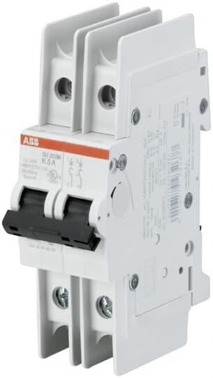 ABB SU202M-C0.5 UL489 MCB 2P C 0.5A 480/277