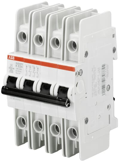 ABB SU204PR-K32 Miniature Circuit Breaker, 4 pole, 32 A, 480Y/277 VAC, K Curve, UL 489, Ring Terminal