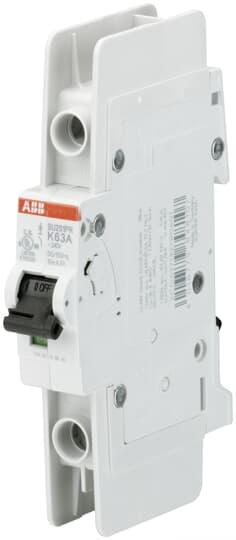 ABB SU201PR-K63 Miniature Circuit Breaker, 1 pole, 63 A, 480Y/277 VAC, K Curve, UL 489, Ring Terminal
