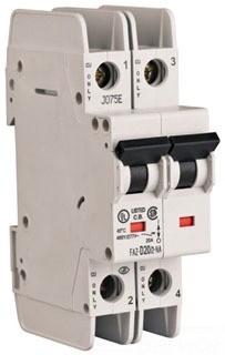 Eaton Corp FAZ-D3/2-NA-L Miniature circuir breaker, 2 pole, 3 A, D trip curve, 240 VAC, screw terminals, UL489
