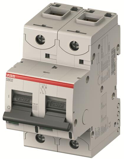 ABB S802U-Z40 Circuit Breaker, High Performance, 2 pole, 40 A, 240 VAC, Z Curve, UL 489
