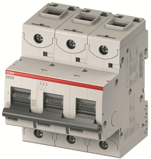 ABB S803U-Z30 Circuit Breaker, High Performance, 3 pole, 30 A, 240 VAC, Z Curve, UL 489
