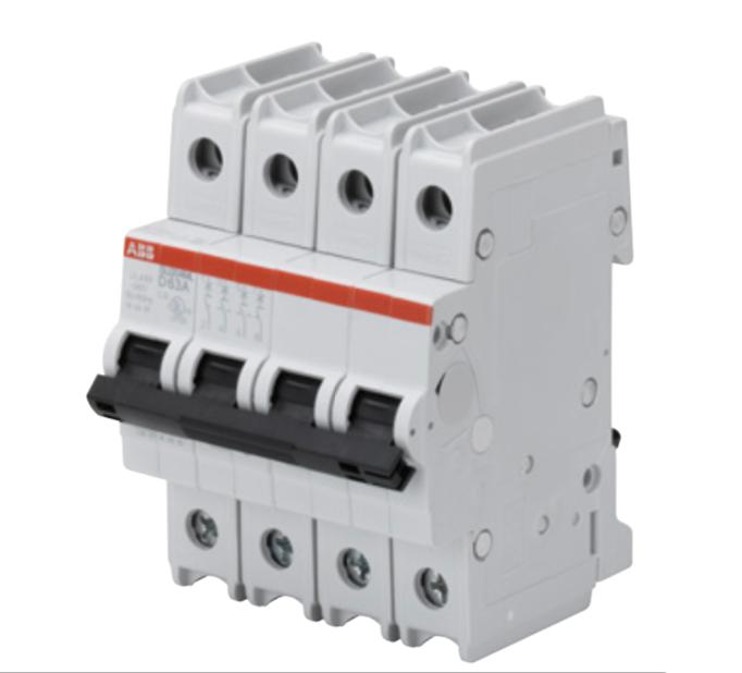 ABB SU204ML-Z6 Circuit breaker, 4P, 6 A, 230 VAC, Z trip curve, UL489